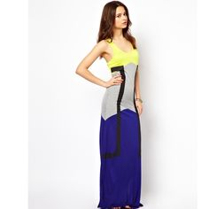 River island color block maxi dress size S Never worn. ripped tags off. Great for any summer day or vacation! River Island Dresses Maxi