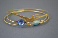 Fly High  golden bangle bracelet set by simplychic93 on Etsy, $34.00