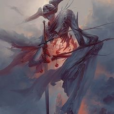 The astonishing fantasy themed paintings and illustrations of concept artist and illustrator Peter Mohrbacher. Monster Art, Fantasy Monster, Monster Concept Art, Dark Fantasy Art, Dark Art, Fantasy Paintings, Fantasy Artwork, Arte Horror, Horror Art