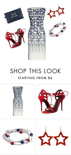 """Untitled #124"" by briettani-michael ❤ liked on Polyvore featuring Canvas by Lands' End, Giuseppe Zanotti, Golden Goose, redwhiteandblue and july4th"