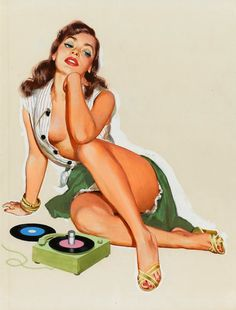 Pin-up girls and her records