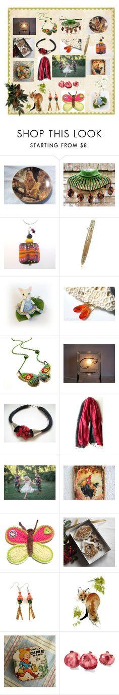 """""""Christmas Calendar"""" by anna-recycle ❤ liked on Polyvore featuring Quinto and Farfalla"""