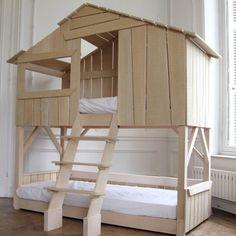 Lits superposés esprit cabane pour enfant, Mathy By Bols
