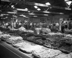 Scenes of Border Belt and Eastern Carolina Market on Opening Day of Tobacco Auctions. August 1942. From the Raleigh News & Observer negative collection, State Archives of North Carolina.