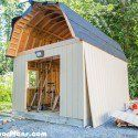 Barn Shed Plans MyOutdoorPlans Free Woodworking Plans and Projects DIY Shed Wooden Playhouse Pergola Bbq Build A Playhouse, Wooden Playhouse, Playhouse Outdoor, Diy Shed Kits, Shed Plans 12x16, Cheap Sheds, Large Sheds, Shed Building Plans, Building Ideas