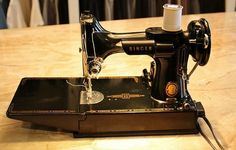 I tought myself to sew on my Nana's machine that looked similar to this old singer.