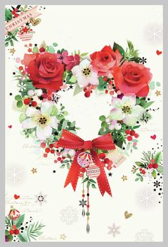 Leading Illustration & Publishing Agency based in London, New York & Marbella. Christmas Topper, Christmas Hearts, Christmas Scenes, Pink Christmas, Vintage Christmas Cards, Christmas Pictures, Xmas Cards, Christmas Time, Christmas Wreaths