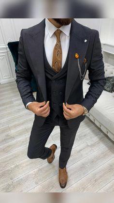 Suit Fashion, Mens Fashion, Polo Outfit, Classic Suit, Formal Suits, Wedding Suits, Cool Suits, Sexy Men, Suit Jacket