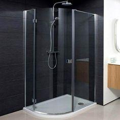 Simpsons Design Offset Quadrant Single Hinged Door Shower Enclosure - 3 Size Options