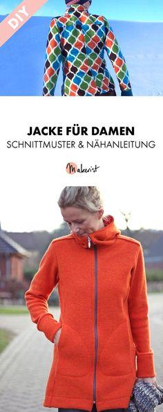 Damenmantel für kalte Tage - Nähanleitung und Schnittmuster via Makerist.de