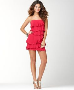 0b47abe5 BCBGMAXAZRIA Dress, Ginger Strapless Ruffled Tiered Sold Out  thestylecure.com Bcbgmaxazria Dresses, Tiered