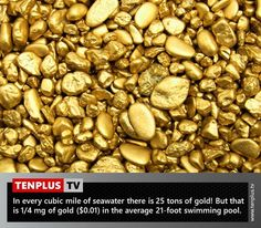 Fact of the day: gold in seawater
