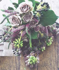 Gorgeous shades & tones of purples bouquet