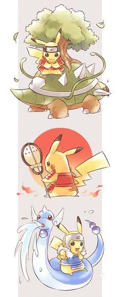 Pikachu naruto lo mas tierno <3