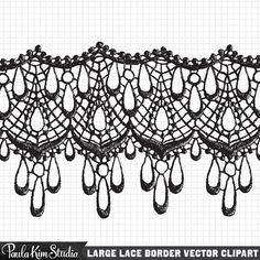 Antique Lace Clip Art Instant Digital Download by PaulaKimStudio