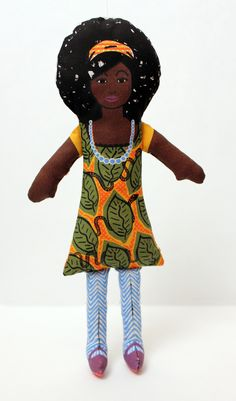 """""""Abeo"""" Our African inspired sew DIY Doll Kit. https://www.etsy.com/shop/ASKEYPRiNT?ref=si_shop"""