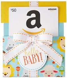 Price:	$50.00 Amazon.com Gift Card in a Hello Baby Reveal (Classic White Card Design)