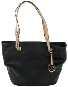 7401505f2cca Michael Kors Jet Set Item Genuine Leather Large Tote Shoulder Handbag Purse  - Dark Khaki: Handbags: Amazon.com
