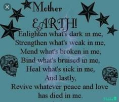Mother Earth Prayer – Witches Of The Craft® Wiccan Spell Book, Wiccan Witch, Witchcraft, Wiccan Spells, Curse Spells, Wiccan Quotes, Healing Spells, Healing Prayer, Magic Spells