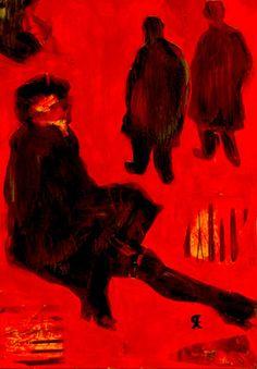 """11-Toulouse Lautrec x Cris Acqua.  Pintura Mixta Collage. 30x21 cm.   HOMENAJE :""""Mi amor por este genial pintor...dueño de los trazos más libres y geniales de la Belle epoque, me han influido totalmente en mi camino por el arte..."""" (Cris Acqua)  http://www.crisacqua.com"""