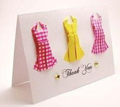 Cómo hacer tarjetas con vestidos de origami