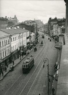 Арбат. Трамвайная линия Александр Родченко 25-26 гг.