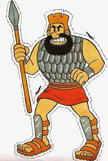 David and Goliath Bible Story Crafts, Bible Crafts For Kids, Preschool Bible, Bible Activities, Bible Stories, Sunday School Lessons, Sunday School Crafts, Christian Kids Crafts, Bible Heroes