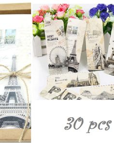 Vintage Different European Scenes France Paris Eiffel Tower Bookmark Set for sale online