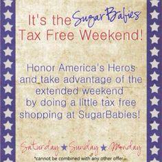 memorial weekend tax free