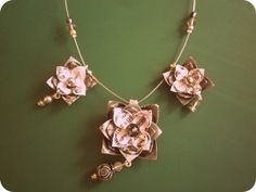Origami jewelry tutorial! Stunning!