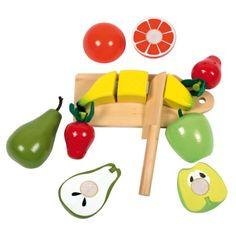Ces fruits en bois peuvent être coupés en morceaux grâce aux scratchs. C'est ainsi plus simple de partager un fruit entre ses poupées.