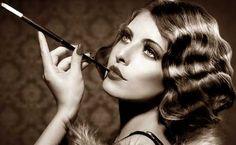 flapper 20's make up