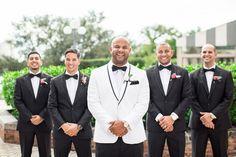 Hochzeit in schwarz, weiß & gold