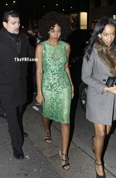 Solange Hits Dolce & Gabbana For Milan Fashion Week In Peek-A-Boo Lace | The Young, Black, and Fabulous®