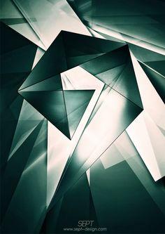 Gorgeous representation of geometric poster design.