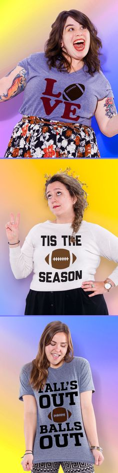 Check out our best football tees, tanks and sweatshirts! Football season is finally here.