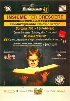 """Domani sera alle 20.45 al Centro Convegni Sant'Agostino: """"Insieme per crescere - la Scuola per Genitori"""" #hotelitaliacortona #events #cortona #cortonagram"""