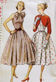 1950s Misses Summer Shirtwaist Dress--I remember the bolero.