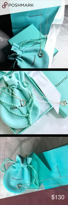 """💠TIFFANY ELSA PERETTI 16"""" AUTHENTIC W PACKAGING 💠TIFFANY ELSA PERETTI 16"""" AUTHENTIC W PACKAGING. LESS THAN ONE YEAR WITH POUCH, BOX AND BAG. SOLID! Tiffany & Co. Jewelry Necklaces"""