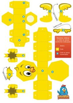 Paper toy. 3d Paper Crafts, Paper Toys, Diy Paper, Diy And Crafts, Foam Crafts, Imprimibles Toy Story, Papier Diy, Paper Animals, Paper Models