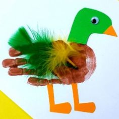 Duck Handprint Craft