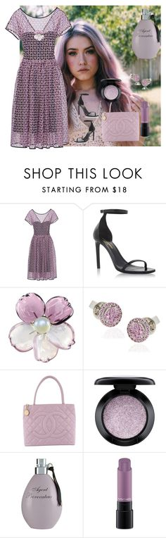 """""""Romance"""" by arara-sustentavel ❤ liked on Polyvore featuring Yves Saint Laurent, Chanel, MAC Cosmetics and Agent Provocateur"""