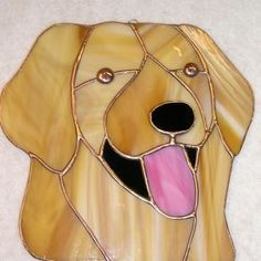 Golden Retriever Stained Glass Sun Catcher by Robin Hary