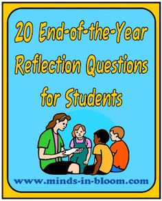End-of-Year Reflection Questions for Students.would be great prompts for collecting end of year conversational articulation data End Of School Year, School Fun, Middle School, School Ideas, School Stuff, School Info, End Of Year Activities, Classroom Activities, Classroom Ideas