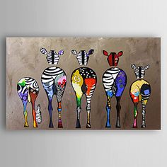 Oil+Painting+Abstract+Zebras+Hand+Painted+Canvas+Painting+with+Stretched+Framed+Ready+to+Hang+–+AUD+$+134.95