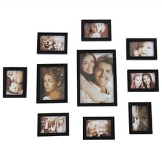 ADECO PF0053 10-Piece Black Wood Picture Photo Frame Set - Holds 4x6 6x8 8x12 Inch Photos,Wall Hanging or Table-top,Home Decor Wall Art Great Gift by ADECO, http://www.amazon.com/dp/B00ABSXBPW/ref=cm_sw_r_pi_dp_78QUrb0VV86KS