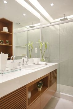 Venha conhecer os projetos de Banheiros, projetados por Bianca da Hora. E fique por dentro, de todas as novidades de Bianca da Hora Arquitetura e Interiores Bathroom Interior, Bathroom Shower Design, Bathroom Style, Amazing Bathrooms, Guest Bathroom Design, Bathroom Decor, White Marble Bathrooms, Bathroom Design, Vanity Design