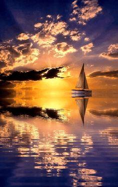 Stunning sunset... #sunset #stunning #water #nature #golden #magical…