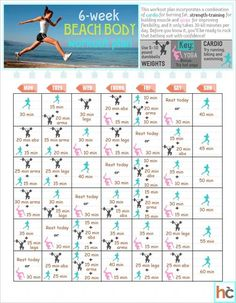 Six-week beach body workout plan - Diet  Exercise