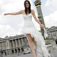 short front wedding dress